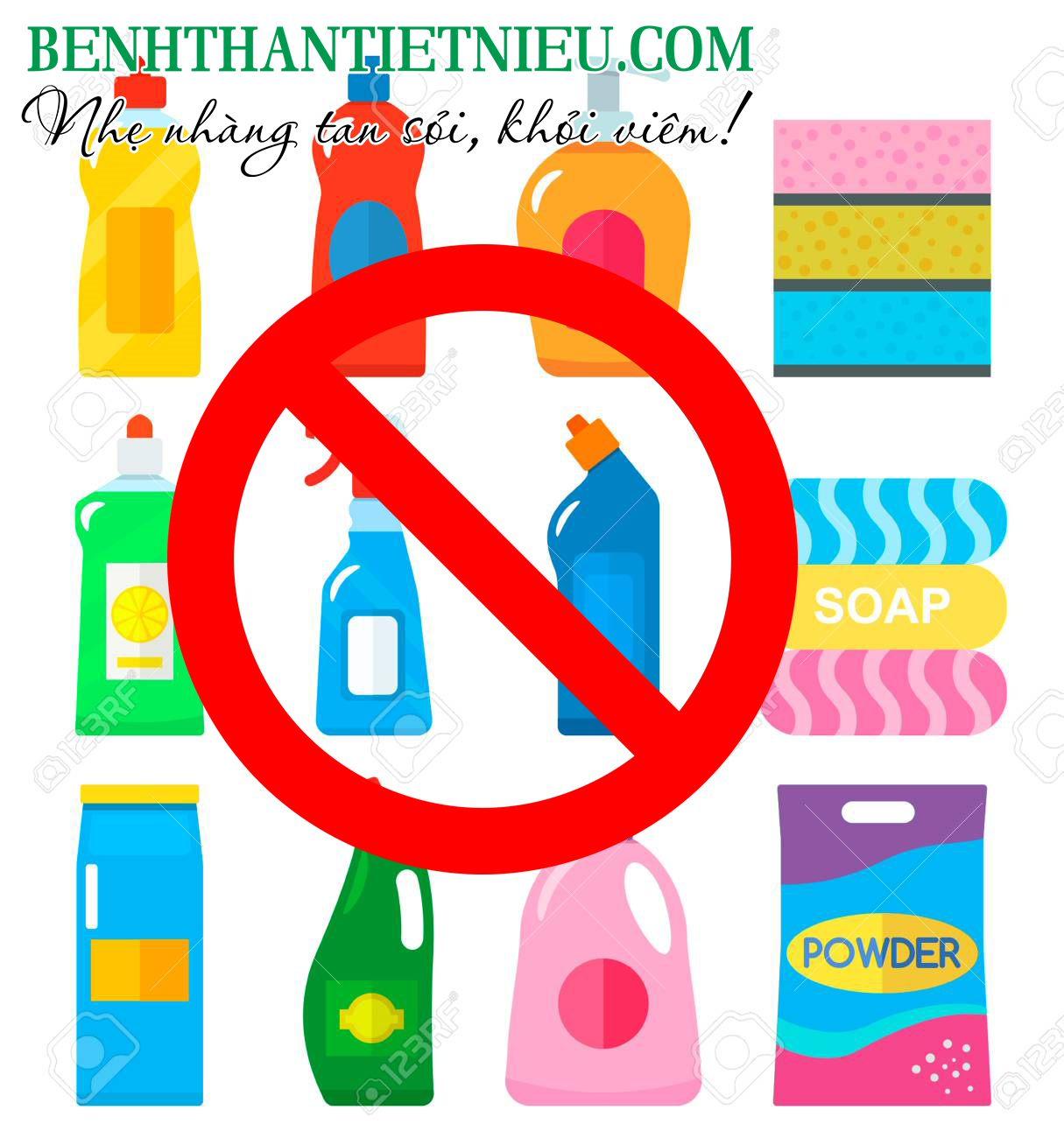 Tránh các hóa chất vệ sinh trong điều trị viêm bàng quang không nhiễm trùng